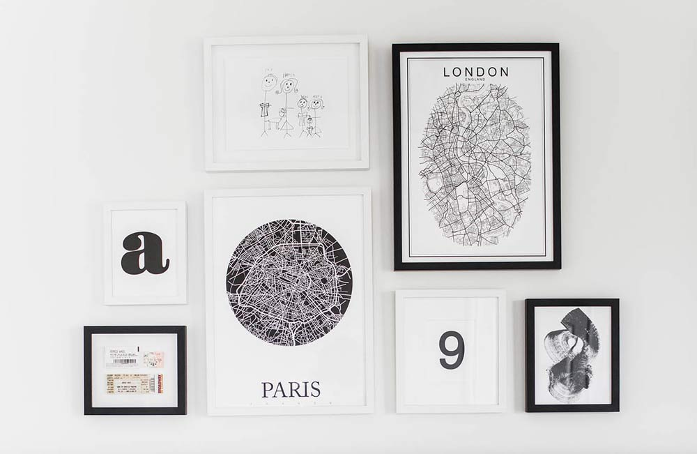 black-and-white-framed-pictures