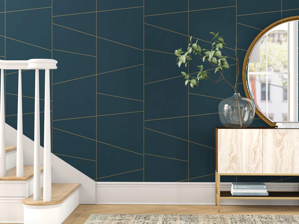geometric-gold-teal-wallpaper
