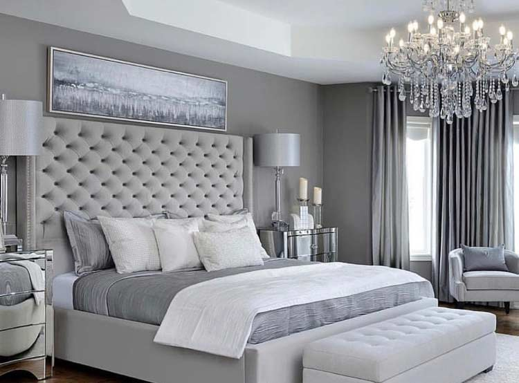 25 Stunning Grey And Silver Bedroom Ideas With Photos Aspect Wall Art Stickers
