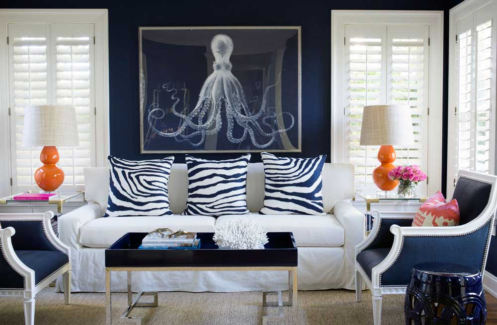 white-navy-silver-living-room